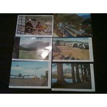 Lote Postales Antiguas Japón 6 De Ellas Sin Timbres