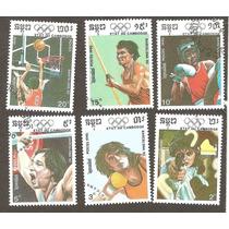 Estampillas De Deporte De Camboya 1990, Barcelona 92