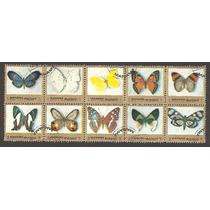 Estampillas Mariposas De Manama, Emirato Arabe