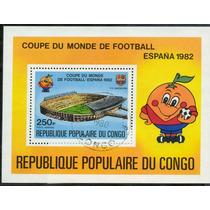 0044 Futbol 82 España Du Congo Hoja Recuerdo C T O N H 1990