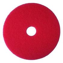 3m Tampón Rojo Suelo Pad, 13 Pulgadas - 5 Por Caso.