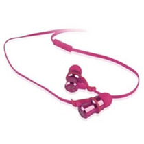Audifono Con Microfono Discreto Ear Headphones Rosa Pc-11097