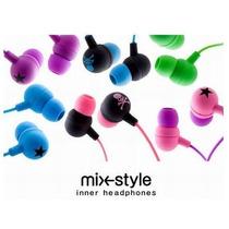 Paquete 5 Audífonos Universal Plug 3.5 Mix Style Estrella