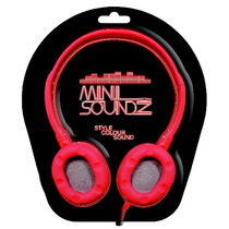 Auriculares De Arriba - Rojo Mini Soundz Neon Head Phones