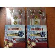 Audífonos Iron Man 3 Marvel Importado Mp3,mp4,ipod,ipad