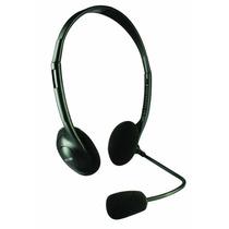 Easy Line El993148 Diadema Con Microfono Alambrico Negro