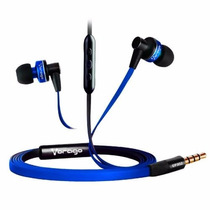 Audifonos Earphones Vorago 3.5mm Ep-302 Manos Libres Azul