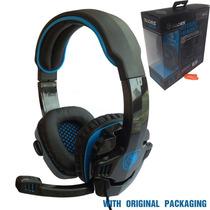 Sades Sa-708 Stereo Gaming Headphone Headset Earphone Bass W