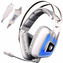 Audifono Sades A8 7.1 Surround Sound Stereo Over The Ear Pc