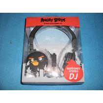 Audifonos Tipo Dj Angry Birds Ginga Negros Rovio Buen Fin
