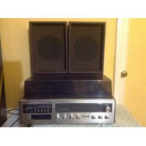 Estéreo Toca Disco Cassette Vintage Fisher Con Bocinas