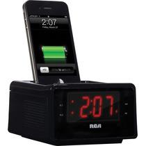 Radio Reloj Despertador Rca Fm-am Carga Iphone / Ipad