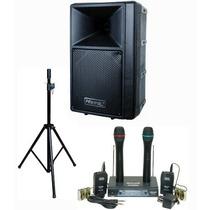 Paquete Sistema De Altavoz Portatil Hisonic Pro Mic Wireless