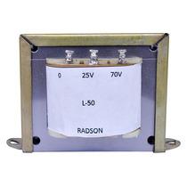 Transformador De Linea Radson Para 25 Y 70 Volts, 50 Watts