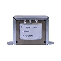 Transformador De Linea Radson Para 25 Y 70 Volts, 20 Watts