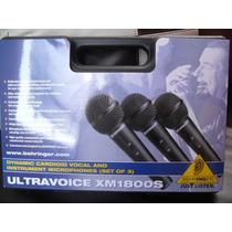 Microfonos Behringer Estuche Con 3 Y Accesorios