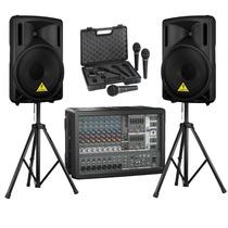 Behringer Pmp980s Mixer +3 Microfonos +2 B212d Bocinas + 2