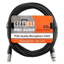 Gearlux Balanced 25-foot Xlr Micrófono Cable Con Oxígeno-lib