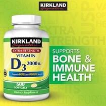 Kirkland Signature Extra Strength Vitamina D3 2000 Ui 600 Cá