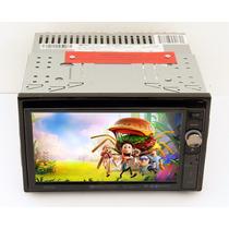 Autoestereo Dvd 2 Din Pantalla Touch 6.5 Motorizada Mp3 Usb