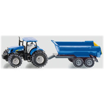Toy Tractor Agricola - Siku New Holland & Trailer 1:50
