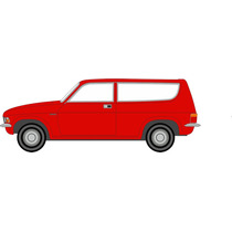 Diecast Model - Oxford 1:76 Flamenco Rojo Austin Allegro