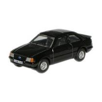 Modelo De Coche - Oxford Diecast 1:76 Negro Ford Escort Xr3i