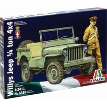 Italeri Jeep Willys 1/4 Ton 4x4 1/24 P/ Armar Y Pintar