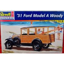 Ford 1931 Model A Woody Revell Monogram Escala 1/25 Nuevo
