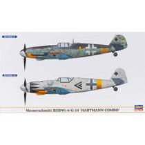 Hasegawa 01901 1/72 Messerschmitt Bf109g-6/g-14 (2 Aviones)