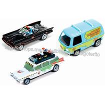 Auto Slot Ho 1/64 Set Scooby Doo Batimobil Ecto-1 / Afx Tyco