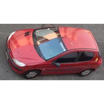 Peugeot 206 2003 Cinco Puertas Color Rojo Excelente Estado