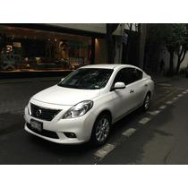Nissan Versa 5 Mil Kms Bco Exlcusive 2014 Única Dueña Finada