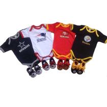 Pañaleros Y Tenis Para Bebes De La Nfl Futbol Americano