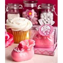 Recuerdos Para Baby Shower - Velas Zapatitos Rosas Y Azules
