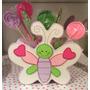 Base Mariposa Con 10 Paletas De Caramelo