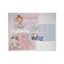 Invitaciones Impresas Baby Shower Tipo Ticket O Postal!!!