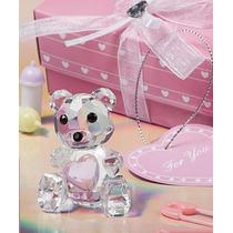 Recuerdos Baby Shower - Ositos De Cristal Rosa Y Azul