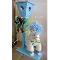 Centros De Mesa Baby Shower Caballitos Nacimiento Lampara