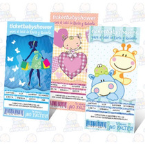 Invitaciones Para Baby Shower Ticketmaster