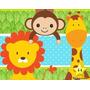 Kit Imprimible Baby Shower K347 Animalitos Safari