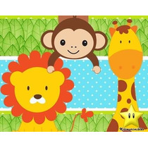 Kit Imprimible Baby Shower K347 Animalitos Safari