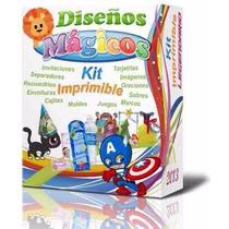 Mega Kit Imprimible Empresarial Invitaciones Cajas+bonos