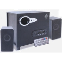 Bocinas Multimedia 2.1 Estereo Subwoofer Usb Sd Mp3 Fm Aux