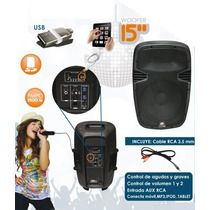 Bafle Amplificado 15 Usb/sd 3500 Watts Potente Oferta Op4