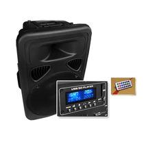 Bafle Bocina Amplificada 3500w Usb Sd Karaoke Micro. E-xaris