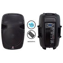 Bafle Activo Amplificado 15 Bluetooth Mp3 Luces Led Bocina