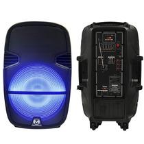 Bafle Bocina Amplificada 15 Pulgadas Con Luz Y Bluetooth Usb