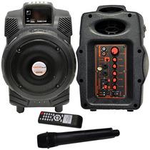 Bafle De 6.5 Con Microfono Inalambrico Para Karaoke Master