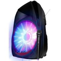 Bafle Amplificado Recargable 15 Iluminado C/mic Inalambrico
